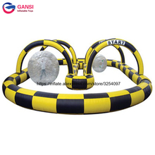 Portable outdoor kart racing trace inflatables,inflatable go karts race track,outdoor track