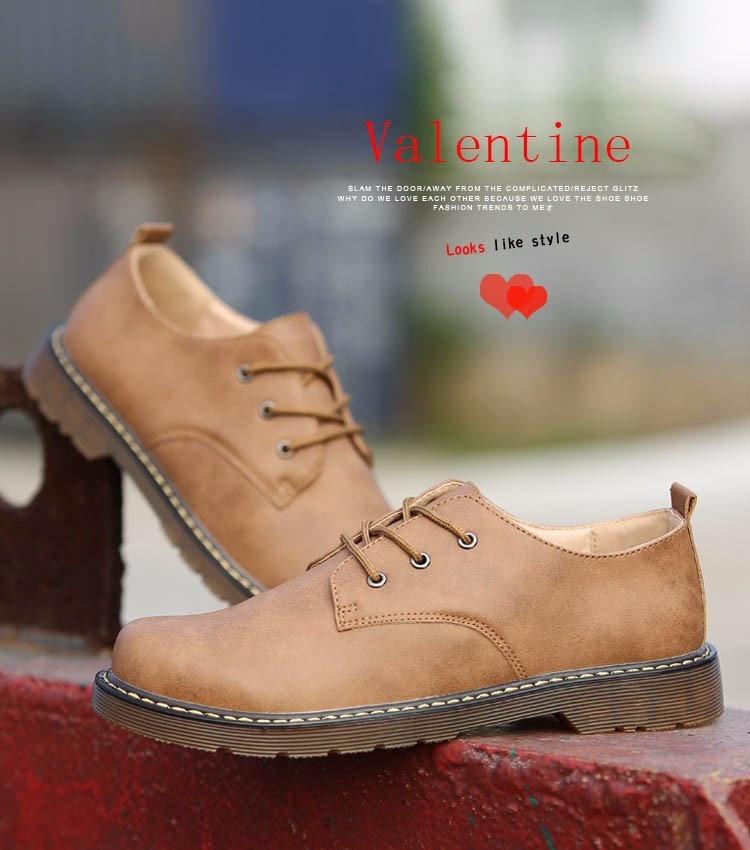 KUYUPP Fashion England Genuine Leather Shoes Women And Men Flats Oxfords Casual Lace Up Ladies Shoes Round Toe Men Loafers PX128 (14)