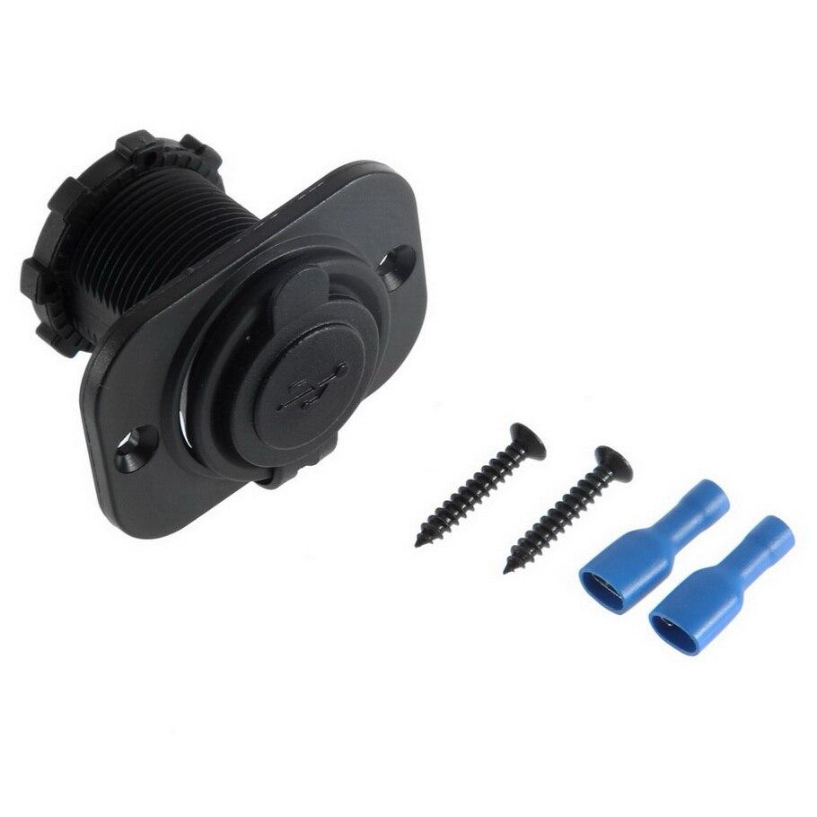 Durable 12V Dual USB Car Motorcycle Cigarette Lighter Socket Splitter Power Adapter outlet power Mobile Phone Charger hot sale
