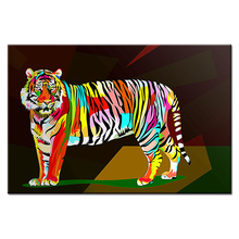 Framed Wall Art Picture Gift Home Decoration Canvas Print painting Colorful animal series poster wholesale