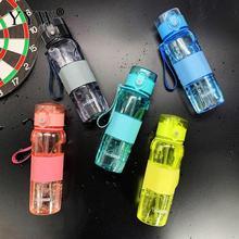 все цены на 500ml Water Bottle With Straw Stirring Ball Drink Bottle For Water Creative Cup Kids Handle Gym Plastic Bottle Water Bottles онлайн