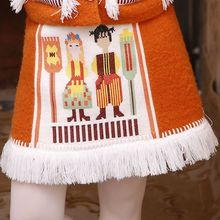 LYNETTE S CHINOISERIE Winter Autumn Original Deisgn font b Women b font Cute Embroidery Tassel Thermal
