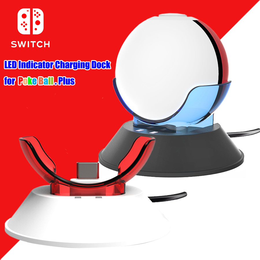 Nintend Switch NS Charging Dock Station for Poke Ball Plus & PokeBall Plus Charger for Nintendos Switch Accessories