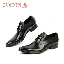 GRIMENTIN Italian luxury formal fashion oxfords mens dress shoes genuine leather black brown flats men for business office