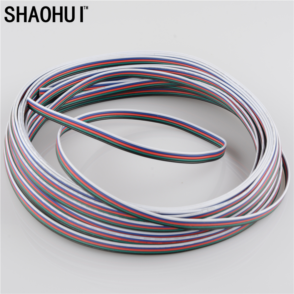 10 meters 5Pin extension cable use for 12v 24v strip tape string ...