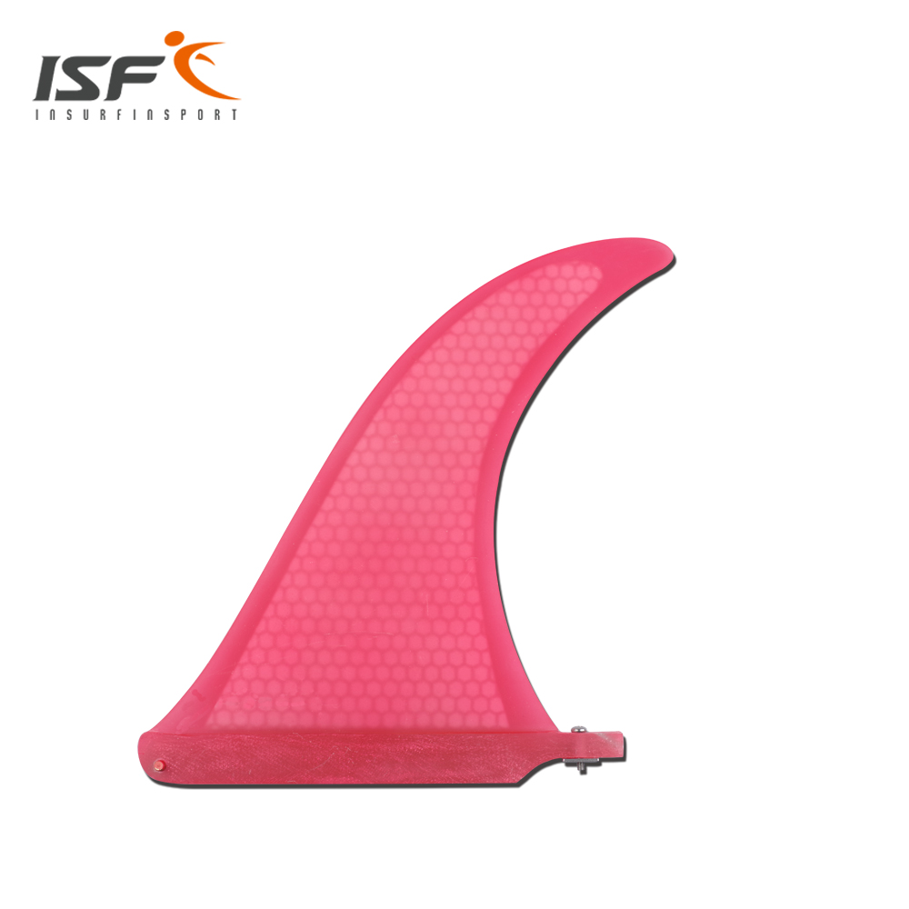 Red longboard surfboard fins quilhas paddle surfboard Fcs fins carbonfiber four Quad FCS future fin 10 inch surfing longboard fins quilhas paddle surfboard longboard fins fiberglass wakeboard fins