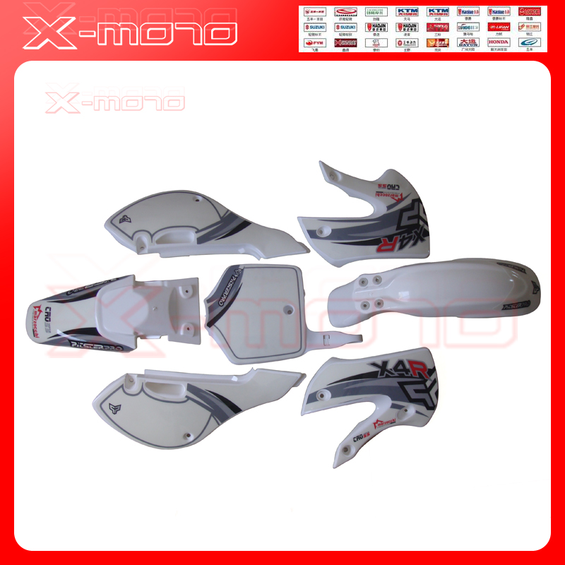 2002-2008 KLX110 KX65 Motocross  White  Fender  Plastic And Decals Stickers  For MOTORCYCLE KAWASAKI MOTO Dirt Pit Bike KLX 110