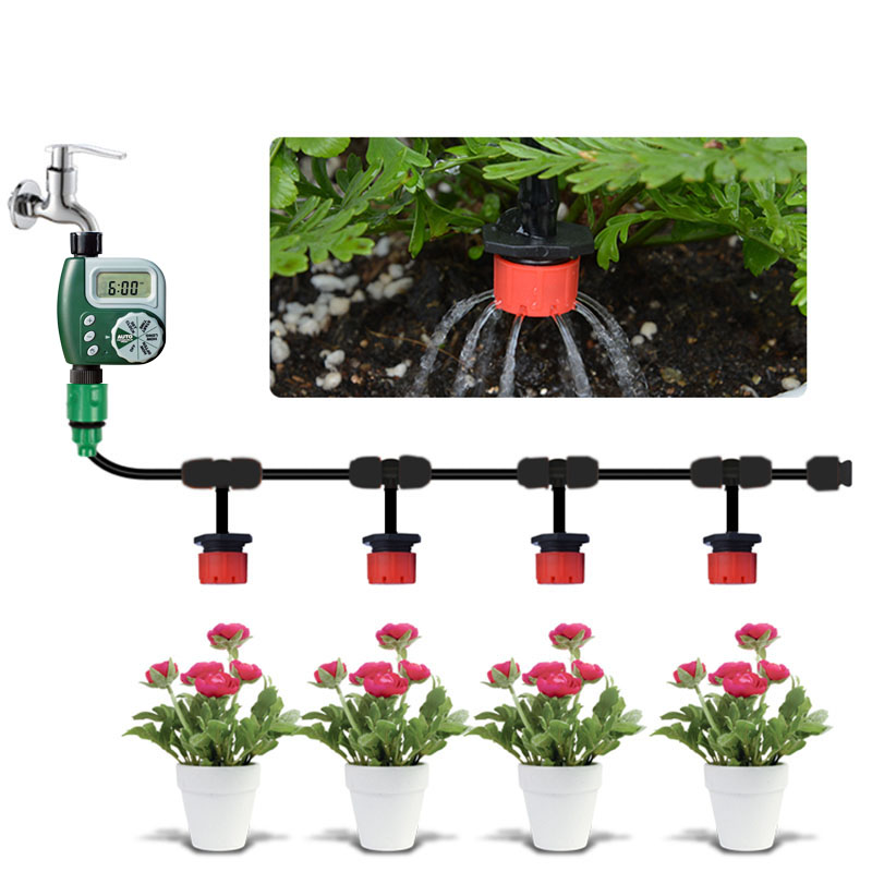 25m Garden Diy Micro Drip Irrigation System Plant Self Automatic