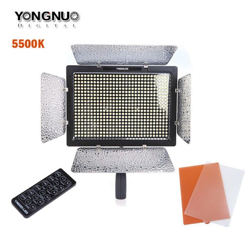 Nowy YONGNUO YN600L YN600 kamera światła LED lampa wideo 5500 K temperatura barwowa dla Canon Nikon kamery DSLR w Oświetlenie fotograficzne od Elektronika użytkowa na  Grupa 1