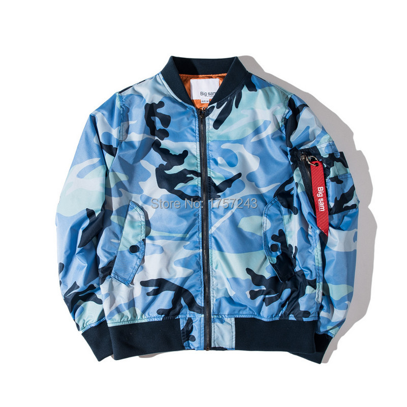 Good Quality Newest Autumn Mens Blue Camouflage Windbreaker ...