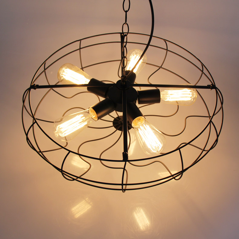 Modern American Industrial Country Loft Lustre Personality Fashion Vintage Edison Fan Pendant Light Plate Fixture Kitchen lamps