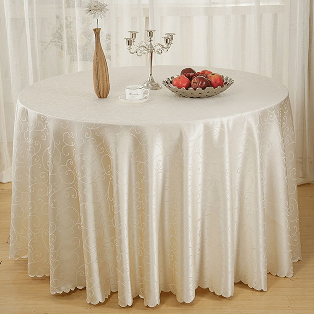 90 inch polyester round tablecloths for wedding decorations christmas table cloth covers nappe ronde mariage obrusy na wholesale in tablecloths from home - Nappe Ronde Mariage