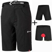 Saenshing Cube Shorts+Cycling Underwear Gel Padded Downhill mtb Shorts Sport Bicycle Cube Bike Cycling Shorts Bermuda Ciclismo