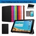 Clássico Ultra Slim leve Smart Cover couro PU rígido de volta Folio capa LG G Pad X 10.1 V930 / G Pad 2 II 10.1 V940