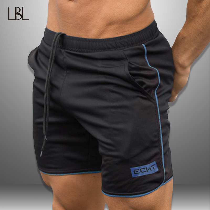 LBL Men Shorts Bodybuilding Sunmmer Jogger Beach Shorts Man Fitness Clothing Mens Boardshorts Outwear Short Pants Quick Drying