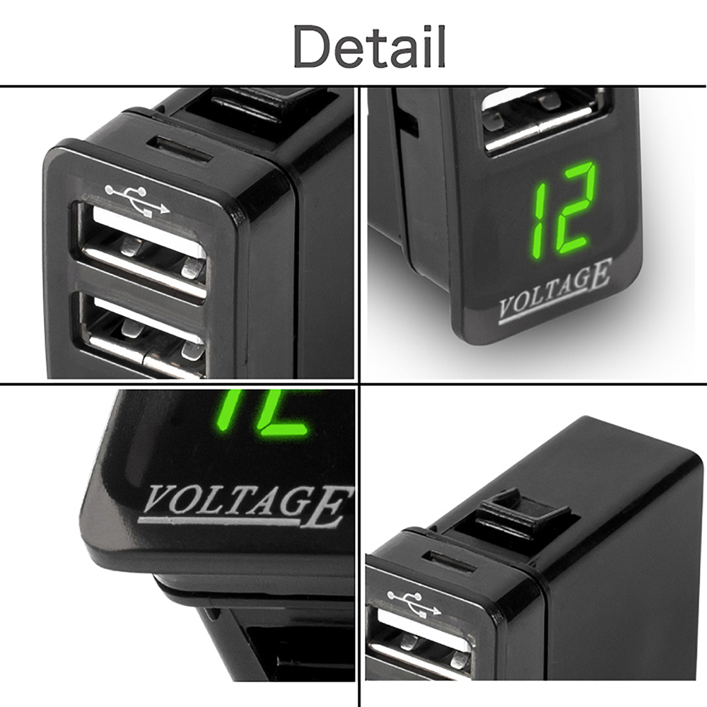 12 24V 5V 4 2A Dual USB Car Mobile Phone Car Electronic Car Charger Adapter Operating Voltage Use for JILI GSGL USB Interface in Cables Adapters Sockets from Automobiles Motorcycles