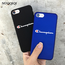 Phone Cases For iPhone 5 5S SE 6 6s 7 Plus Case Fashion Black Blue Champion Plastic For iPhone 7 Mobile Phone Cover Case