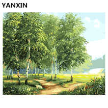YANXIN DIY Frame Painting By Numbers Oil Paint Wall Art Pictures Decor For Home Decoration E639