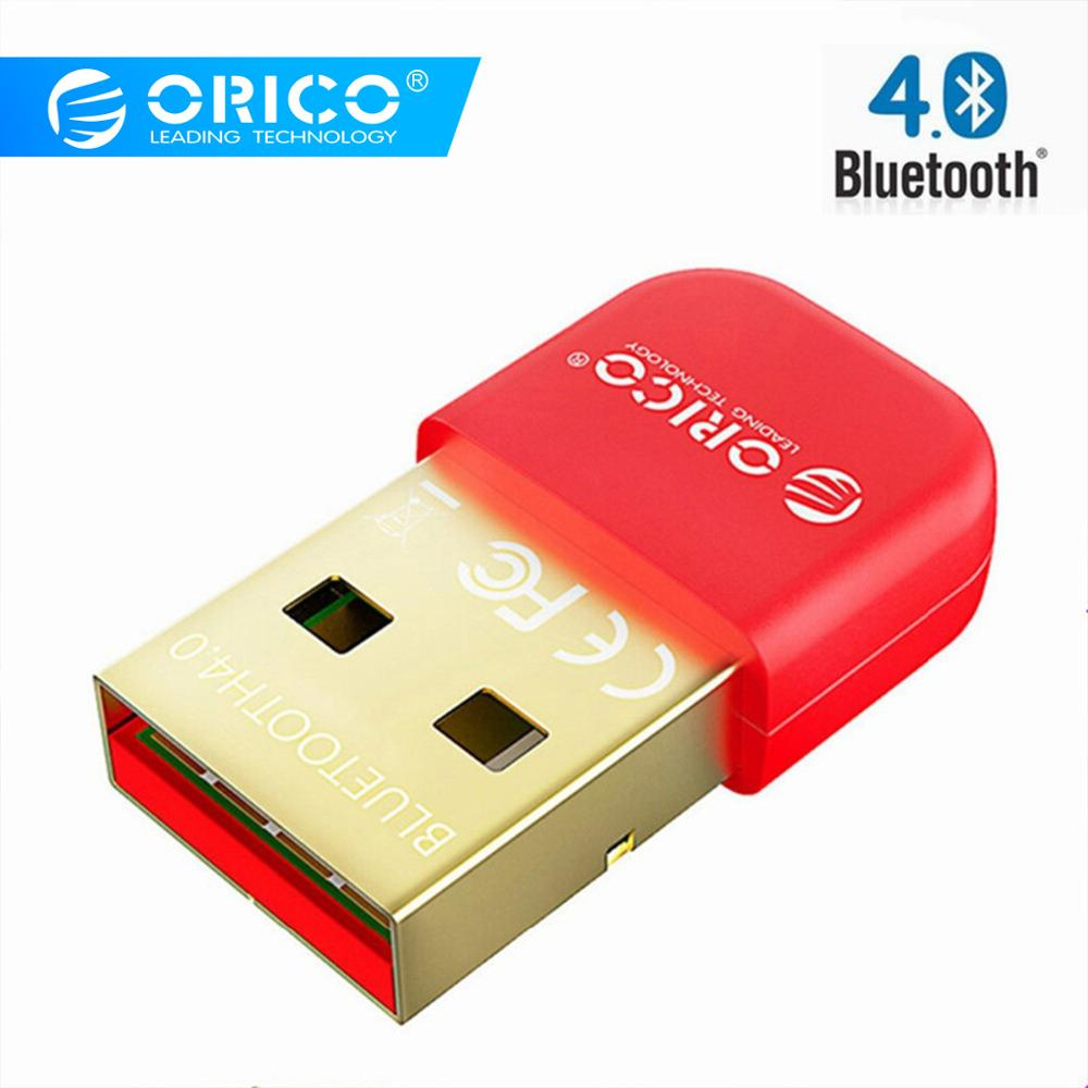 ORICO BTA-403-RD Mini Bluetooth 4.0 Adapter Usb For Computer PC Wireless Mouse Bluetooth Speaker 4.0 Music Receiver-Red