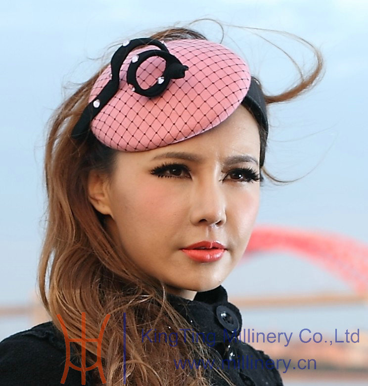 Hot New Cute Girl Pink Hair Accessories Hair Fascinator Hat Beautiful Hairband Hair Clips Headwraps For Girl Party Birthday Gift halloween party zombie skull skeleton hand bone claw hairpin punk hair clip for women girl hair accessories headwear 1 pcs