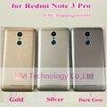 Cinza prata ouro caso para xiaomi redmi note3 pro note 3 pro (Snapdragon 650) substituição da Bateria Back Door Capa Frete Grátis