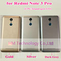 Gris plata oro caso para xiaomi redmi note3 pro note 3 pro (Snapdragon 650) reemplazo de la Batería Back Door Cubierta Envío Gratis