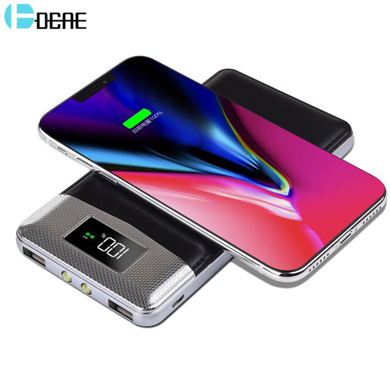 Qi Wireless Charger Power Bank Dual USB External Battery