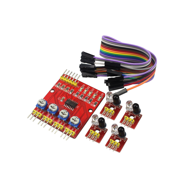 4 Channel Infrared Sensor Line Tracking Obstacle Avoidance Sensor Module