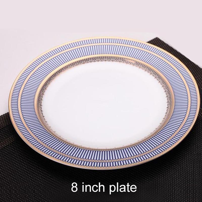 YeFine Luxury Bone China Tableware Set Advanced Dinner Plate Steak Dish Porcelain Dishes And Plates Set With Tea Cup And Saucer-in Dishes \u0026 Plates from Home ... & YeFine Luxury Bone China Tableware Set Advanced Dinner Plate Steak ...