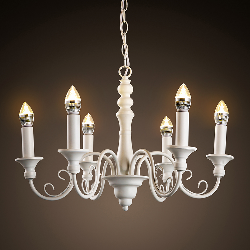 6 Head  Nothern Europe Vintage Iron Pendant Lamp Palace Style Candle Decoration Foyce Light Dining Light Free Shipping nothern europe black white color pendant lamp wood japanese style restaurant light bedroom light free shipping