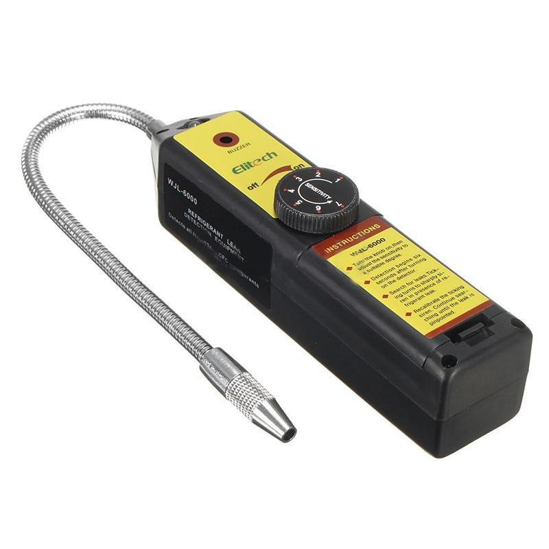 Tools : ELITECH WJL-6000 air conditioning Halogen GAS Leak Detector Freon gas analyzer CFC HFC Halogen Gas Refrigerant Leak Detector Air