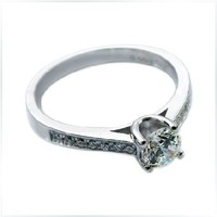 0.5CT 750 White Gold Four Prongs Persevering Diamond Women Engagement Ring Best Gold AU750 Wedding Engagement Jewelry Gift