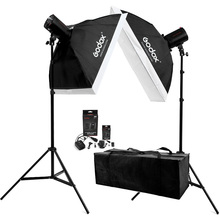 Adearstudio Cd50 godox Estudio kit de luz 2X160 W Flash de Estudio Luz con Kit Photo Studio Softbox 160 W accesorios de toma de fotos