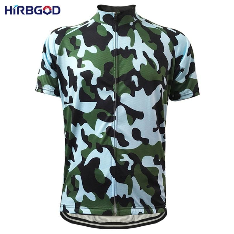 Prix pour HIRBGOD Conception hommes camouflage vélo jersey d'été à manches courtes bike wear camo vtt respirant à séchage rapide vélo clothing, HI338