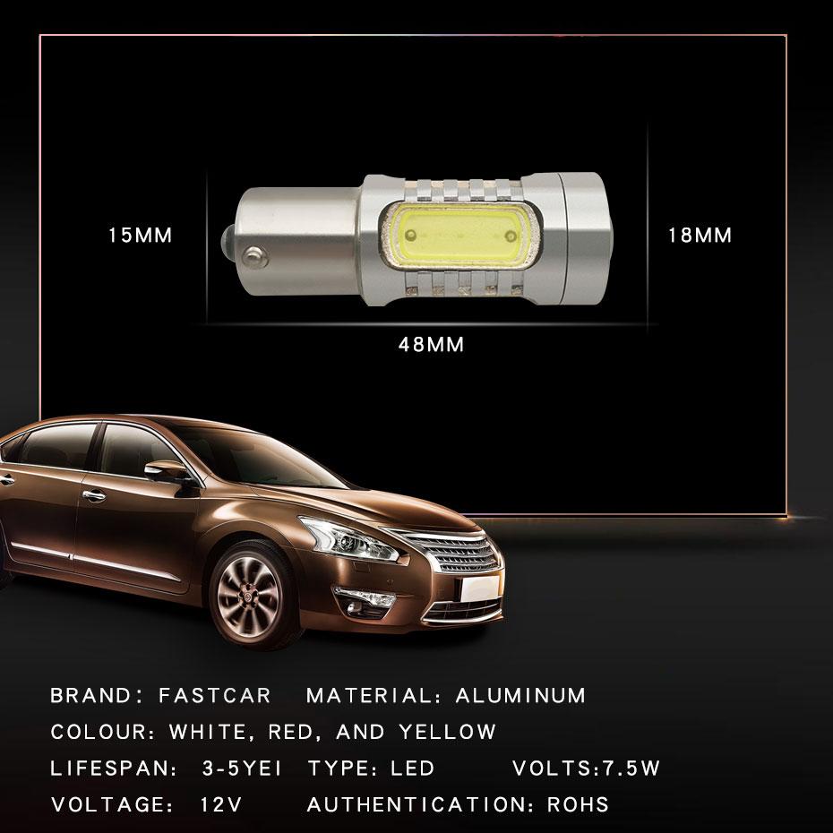 2X 1157 Strobe Bulbs 1156 Ba15S 1157 BAY15D Led COB 12V LED Light Car Turn Brake Strobe Flash Bulb Tail Light Led Lamp (5)