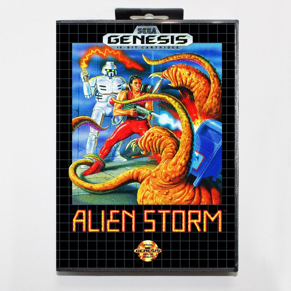 New 16 bit MD game card - alien storm with Retail box For Sega genesis system