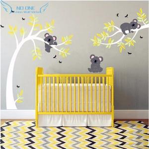 Image 2 - Koala And Branch Wall Sticker Koala Tree Wall Decal With Dragonflies Koala Bear Wall Decal for Baby Nursery, Kids, Children Room