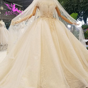 Image 3 - AIJINGYU Artı Boyutu Gelinlikler gelin elbiseleri Satış Türk Boncuklu Çin Fabrika Kıyafeti Web Siteleri Lüks Kristal düğün elbisesi