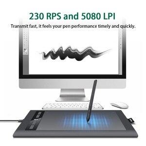"""Image 5 - Parblo tableta gráfica Digital de arte A610S, tablero de pintura de dibujo, bolígrafo sin batería de área activa de 10x6 """"con 8192 niveles de presión"""