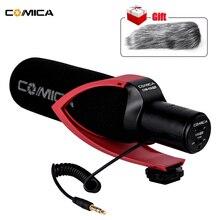 Comica cvm V30 プロビデオ用一眼レフカメラとwindmuff指向性コンデンサーインタビュー録音マイク