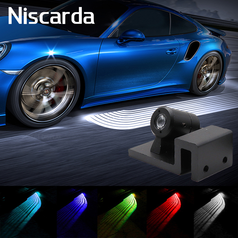 Niscarda 2Pcs Angel Wings LED Car Welcome Light Door Courtesy Projector Ghost Shadow Decorative font b