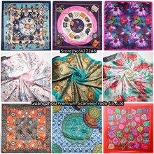 90cm*90cm    silk square scarf women fashion   imitated silk satin scarves shawl hijab