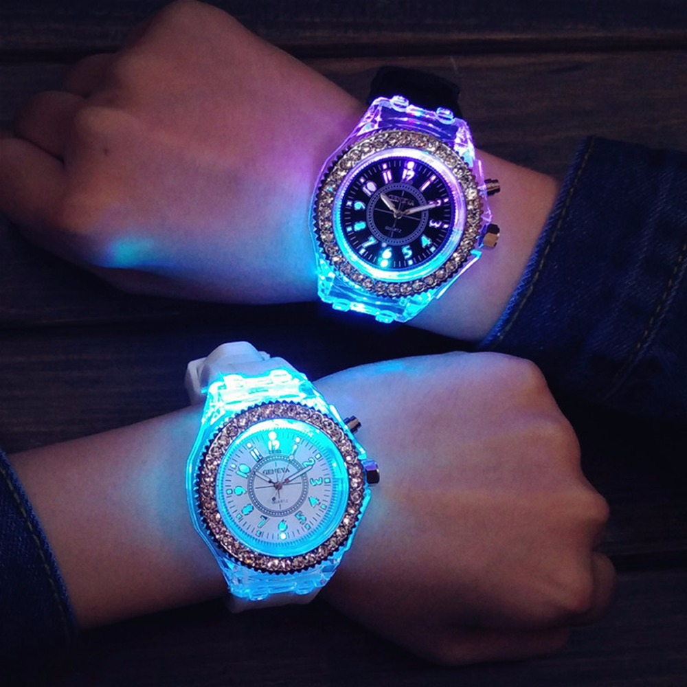 Colorful Unisex Sport Watche Quartz Wristwatch With Backlight Relogio