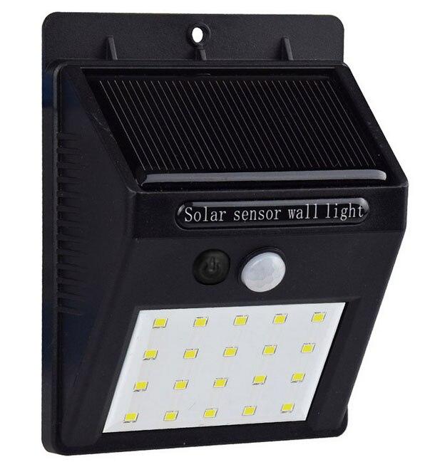 Waterdichte 20 LED Solar Light Zonne-energie PIR Bewegingssensor LED - Buitenverlichting