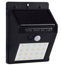 Waterproof 20 LED Solar Light Solar Power PIR Motion Sensor LED Garden Light Outdoor Pathway Sense Solar Lamp Wall Light