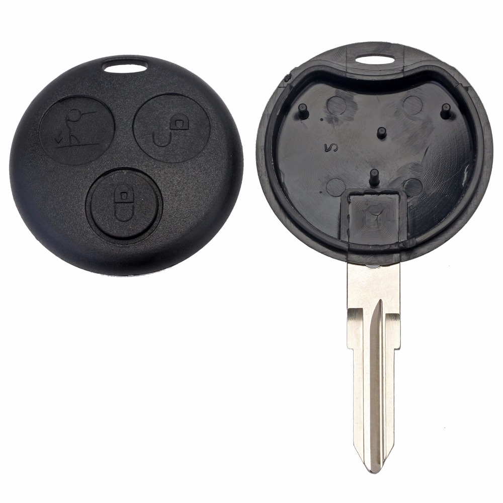 New 3 Button Uncut Blade Remote Car <font><b>Key</b></font> Fob Case Shell for Mercedes Benz <font><b>Smart</b></font> For Two <font><b>450</b></font> Free Shipping image