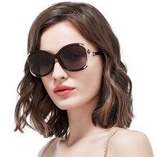 Бренд-дизайн с розовым цветочным горным хрусталем ПОЛЯРИЗОВАННЫЕ ОБЪЕКТЫ Роскошные модные женские дамы с большими размерами Тени для очков Солнцезащитные очки HD