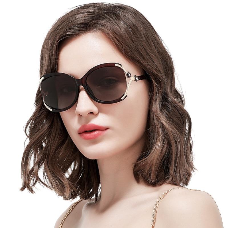 Brand Design met roze bloem strass Gepolariseerde lens Luxe mode - Kledingaccessoires