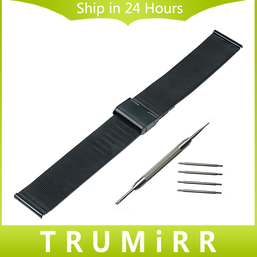 16mm 18mm 20mm 22mm Milanese Watch Band for Timex Weekender Expedition Classic Men Women Stainless Steel Bracelet Strap + Tools timex часы timex tw4b03500 коллекция expedition