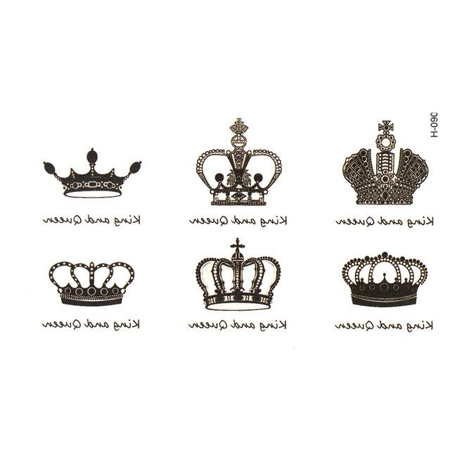 Горячие продажи crown Временные Татуировки татуировки моделирование алфавитном водонепроницаемый мужчин и женщин татуировки наклейки, чтобы покрыть шрам татуировки